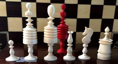 Type II Barleycorn Chess Set,