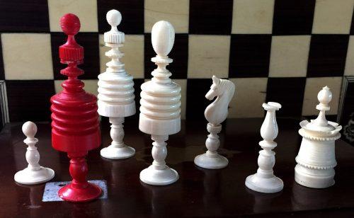 Type I Morphy Barleycorn Chess Pieces