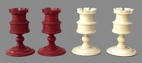 Antique Calvert Petal and Pistil Chessmen