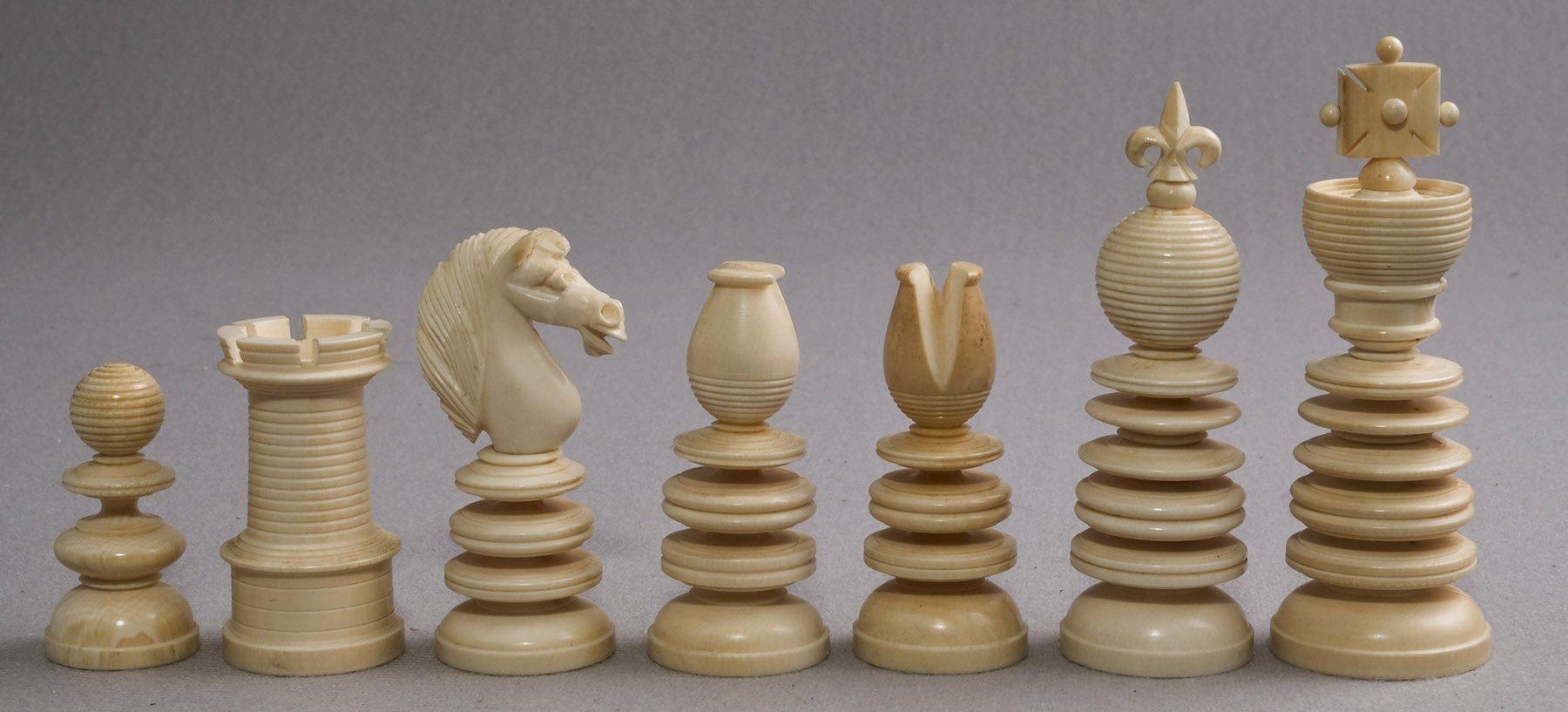 Antique Lund Chess Pieces