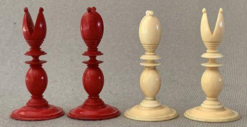 Antique Lund Calvert Chessmen