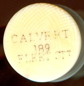 Signed Calvert Antique Ivory Petal and Pistil chessmen