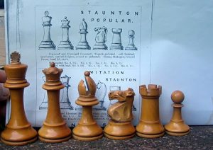 "British Chess Company Popular Chessmen, 4-0"" King"