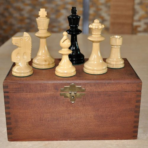 William T Pinney Antique Chess Set