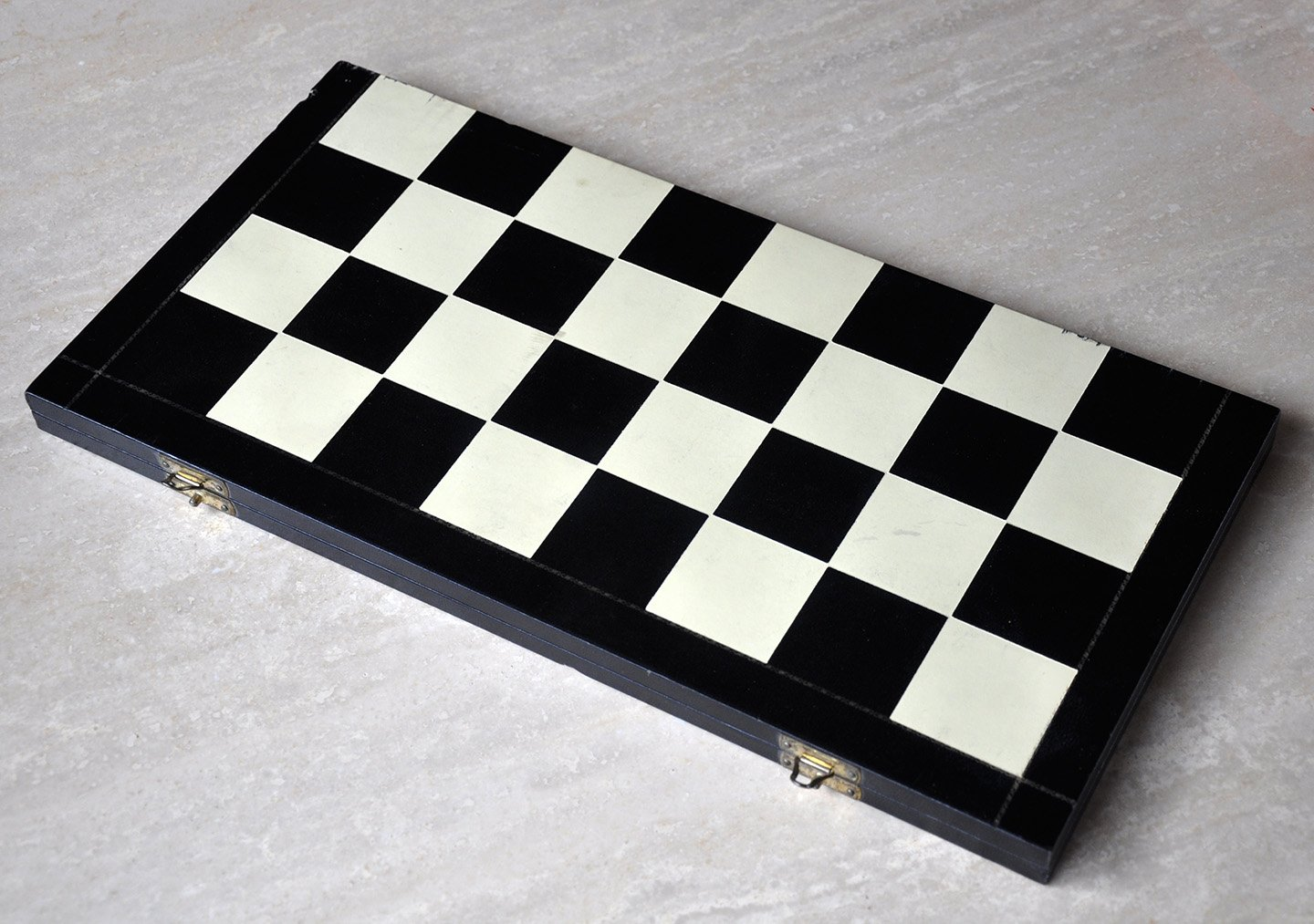 "Folding Leatherette Chessboard, 1-7/8"" Squares"