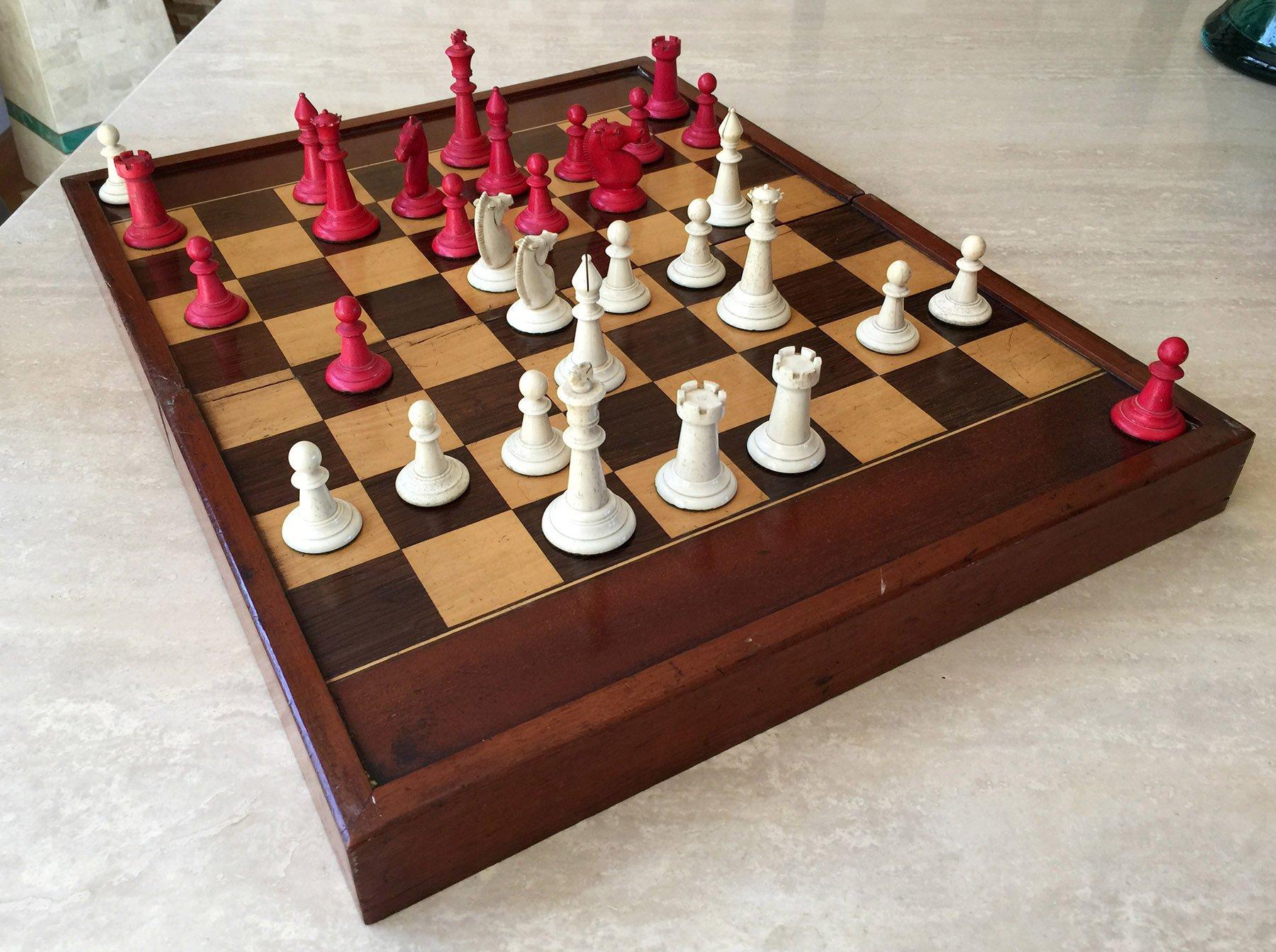 Corbould Bone Staunton Chessmen