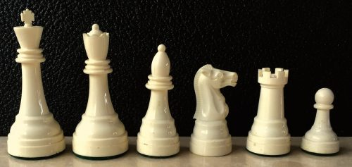 Large Vintage Gallant Knight Plastic Chessmen