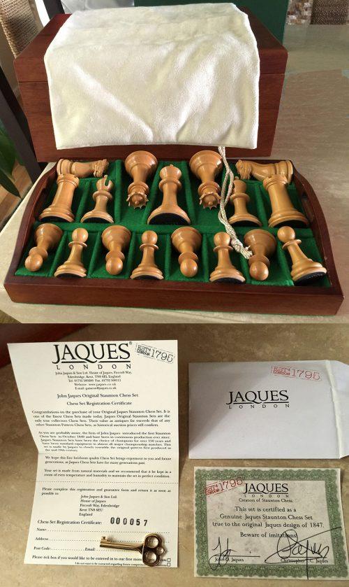 1850 Reintroduction Jaques Club Size Chessmen