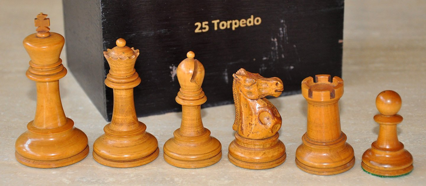 Hybrid Jaques Lessing Style Chessmen