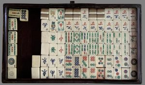 Vintage Leather Cased Mahjong