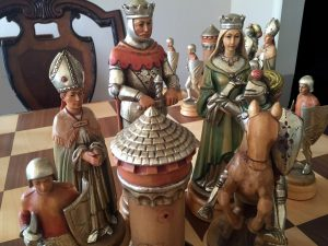 "Anri Monsalvat Chess Set, 10-3/4"" King"