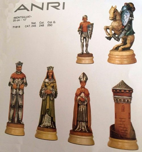 Anri Monsalvat Chess Set, 11 inch King