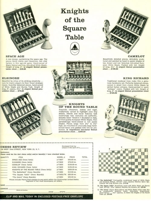 Anri Space Age Chess Set
