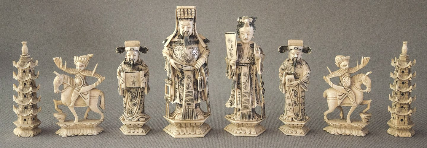 Antique Chinese Deity Chess Set Www