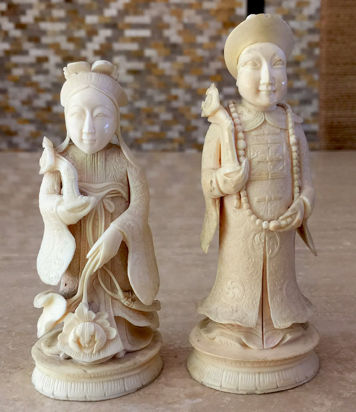 Antique Cantonese Chess Set