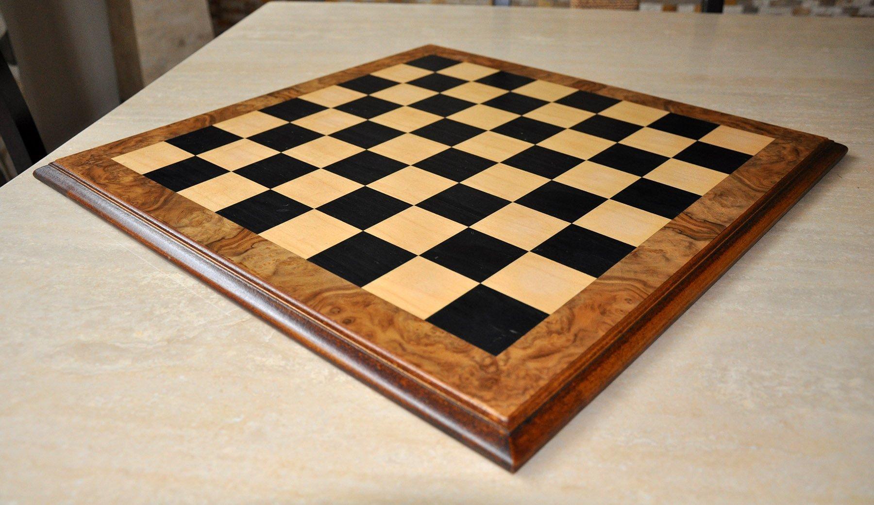 Elm Burl Chess Board