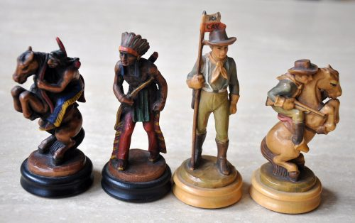 Anri Far West Chess Set, Bishops and Knights