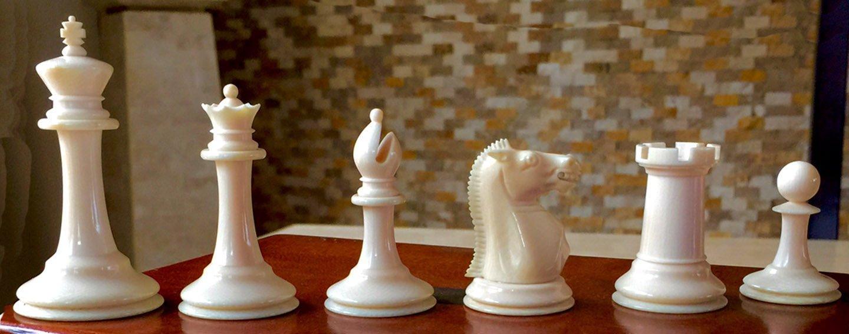 Jaques Ivory Zukertort Library Size Chess Set