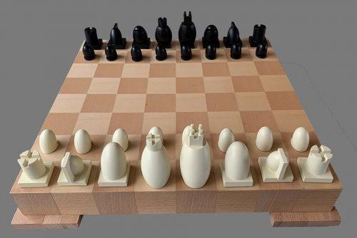 Michael Graves Post Modern Chess Set
