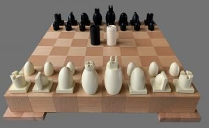 Michael Graves Post Modern Chess Set