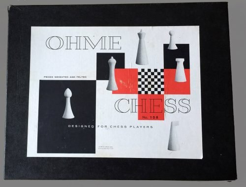 Herman Ohme Abstract Chess Set