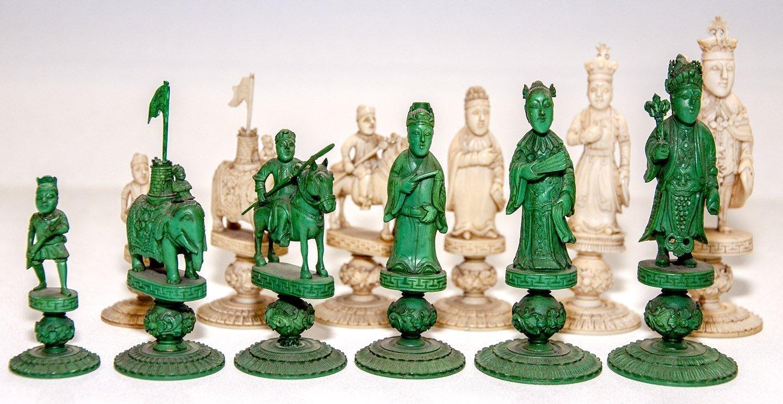 Antique George III Figural Chess Set