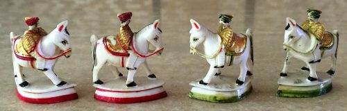 Rajasthan Polychrome Ivory Chess Set