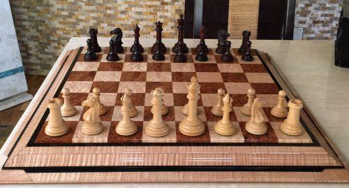 British Chess Company Bois de Rose Royal Chessmen