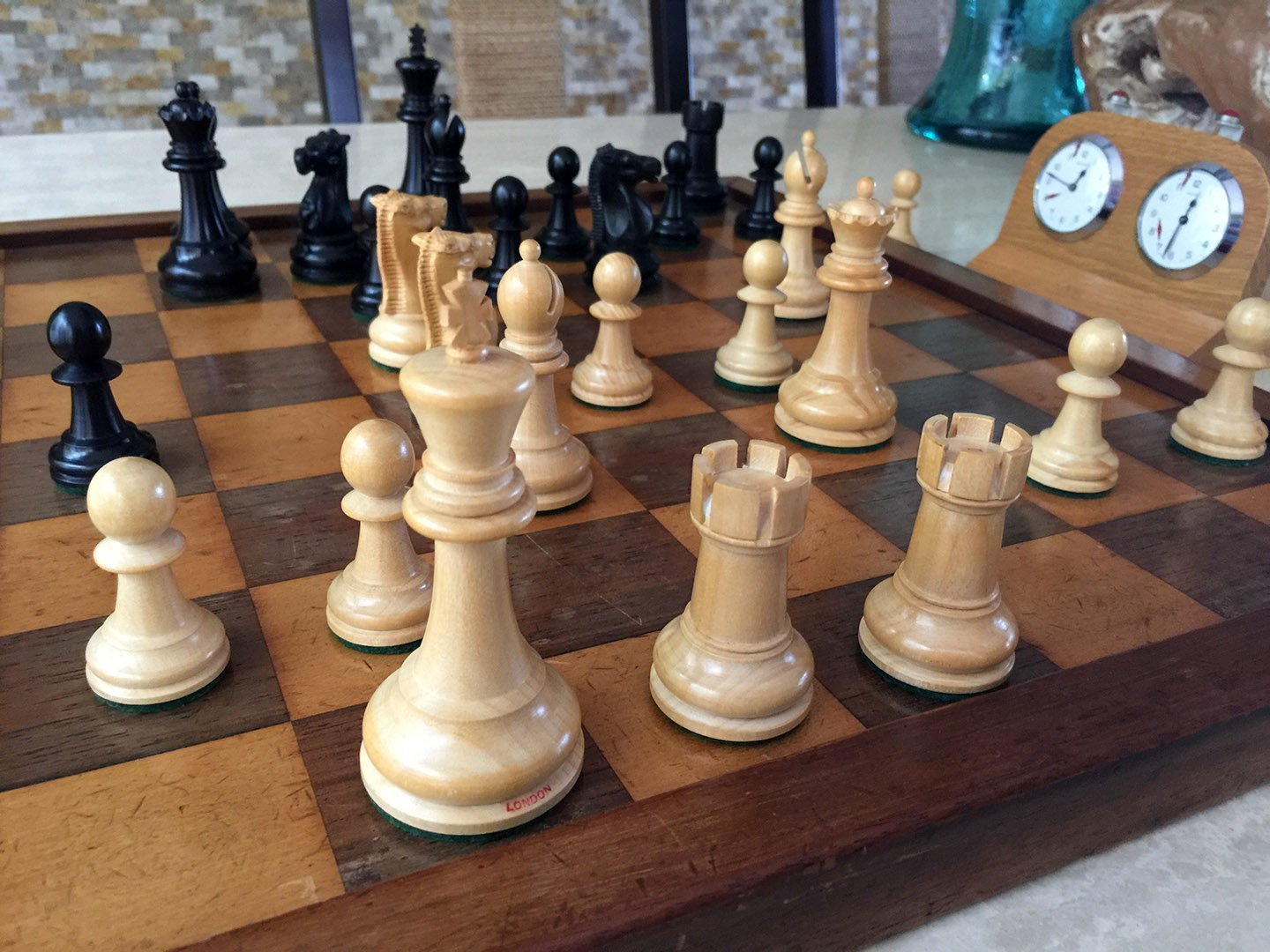 Jaques Fischer Spassky Chess Pieces