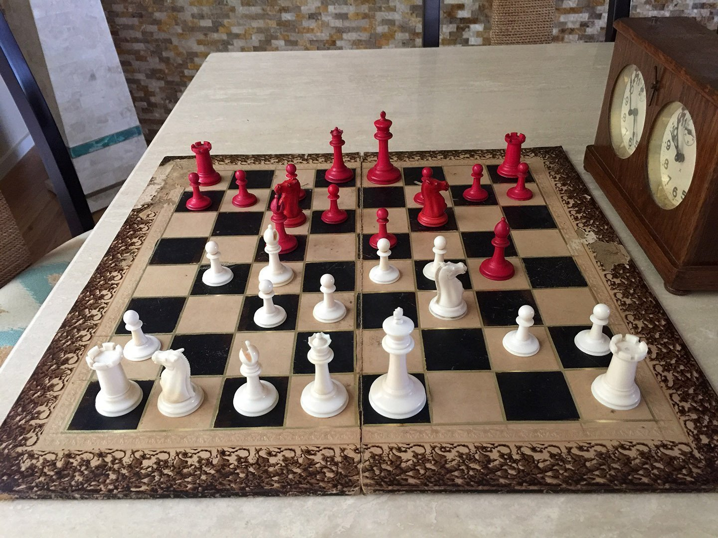 Jaques Ivory Hartston Library Size Chess Set