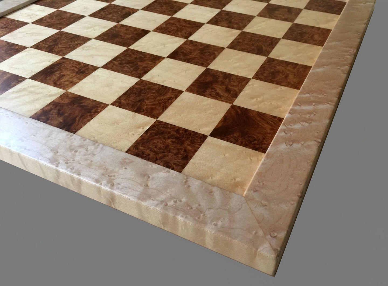 Amboyna Burl Traditional Chessboard