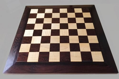 Rosewood and Curly Maple Chessboard