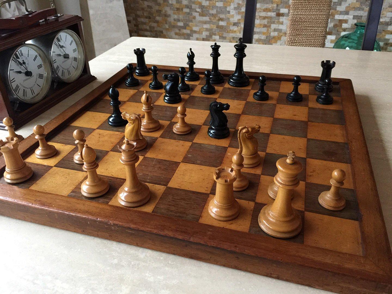 Hybrid Jaques Steinitz Chessmen