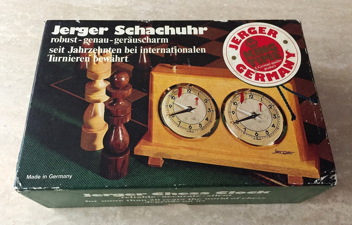 Jerger Schachuhr Chess Clock