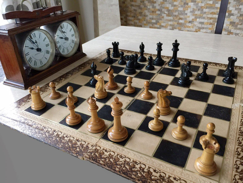 Library Hybrid Jaques Zukertort Chessmen