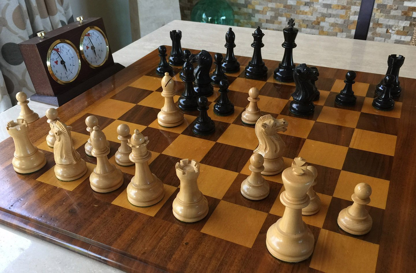 Ebony Pioneer Elite Chess Pieces