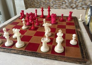 Antique Cantonese Burmese Disc Chess Set