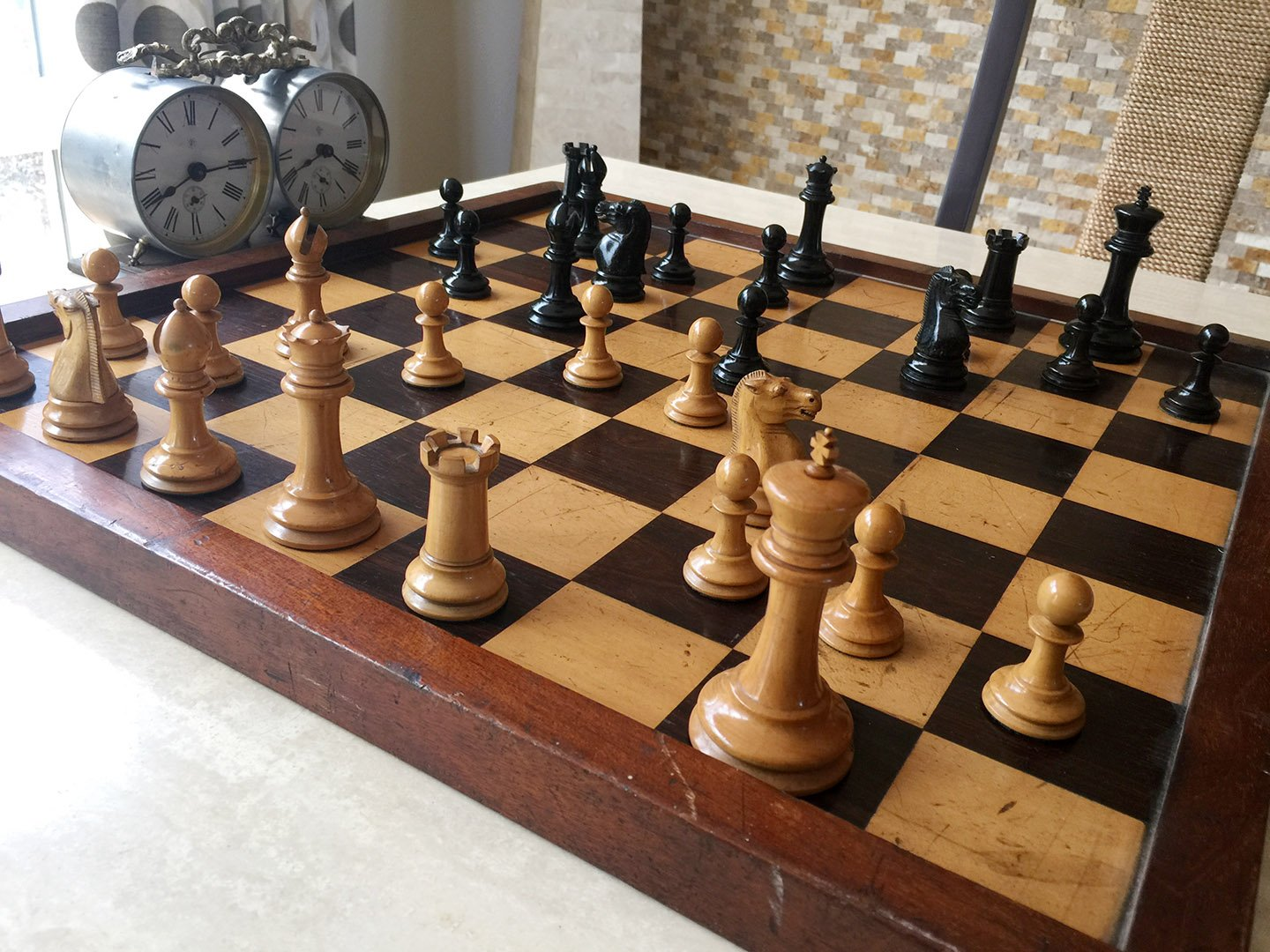 Jaques Zukertort Chess Set, Small Club Size