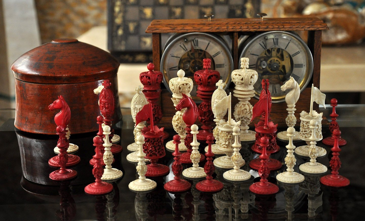 Large Antique Burmese Chessmen, Type III