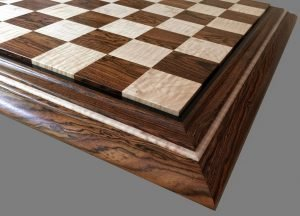 Curly Maple and Bocote Chessboard