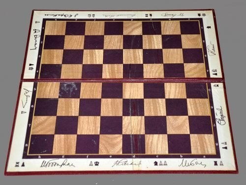 World Champions Folding Chessboard