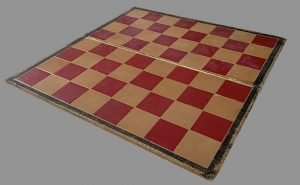 Antique Folding Cardboard Chessboard