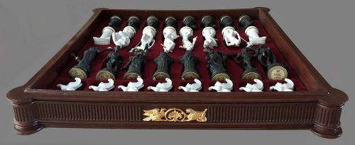 Chess Set of the Gods by Franklin Mint