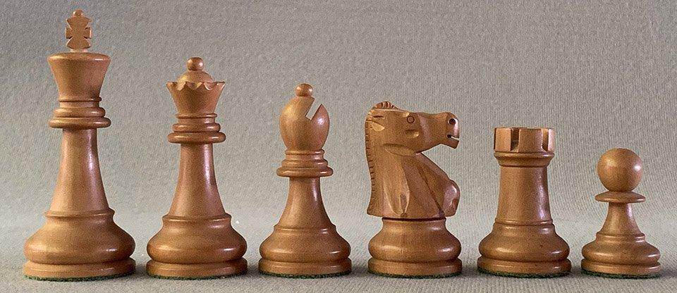 Modern Jaques Fischer Spassky Chess Set