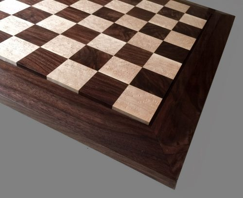 Birdseye Maple and American Black Walnut Chessboard