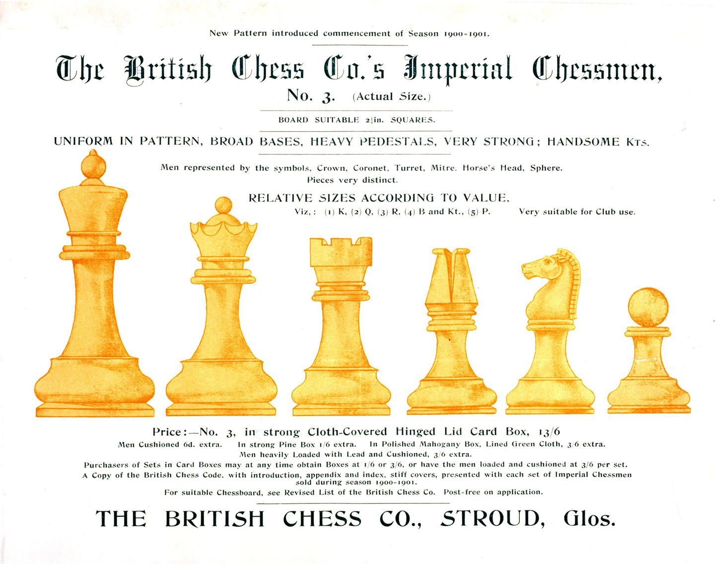 British Chess Company Imperial Chessmen