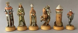 18 Carat Gold Anri Monsalvat Chess Set