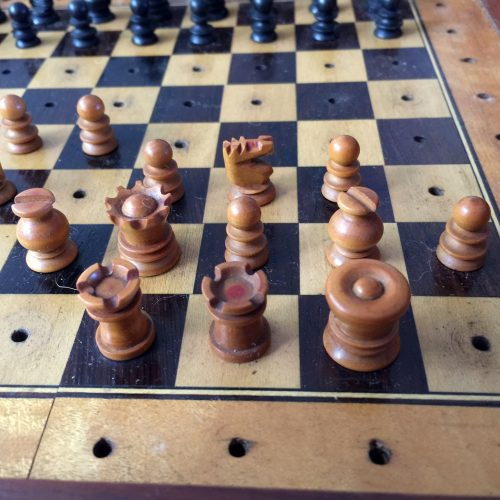 Victorian Railway Travel Chess Set
