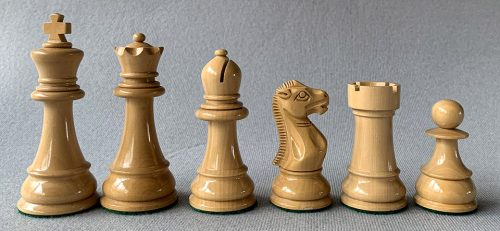 Reproduction Windsor Castle Chessmen, Red and Natural Lacquer
