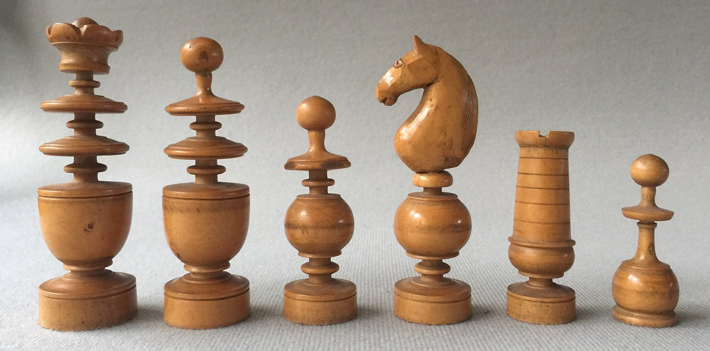 French Regence Antique Chessmen